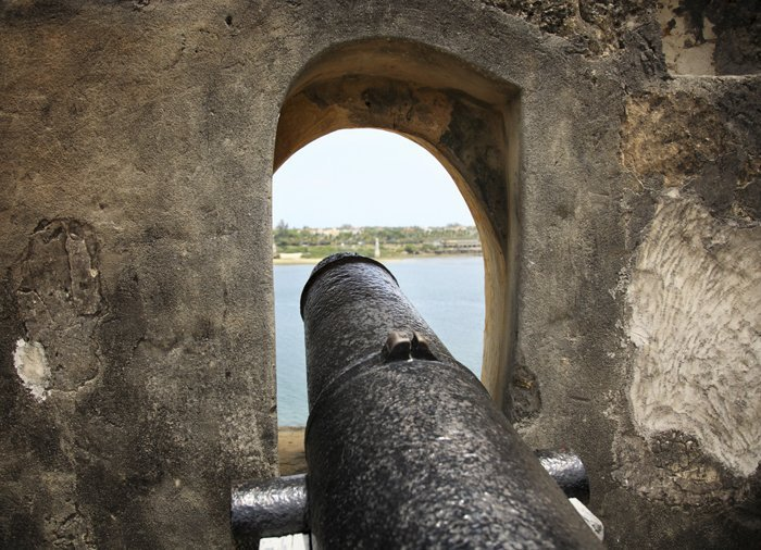 Mombasa City Tour - Kanon i Fort Jesus