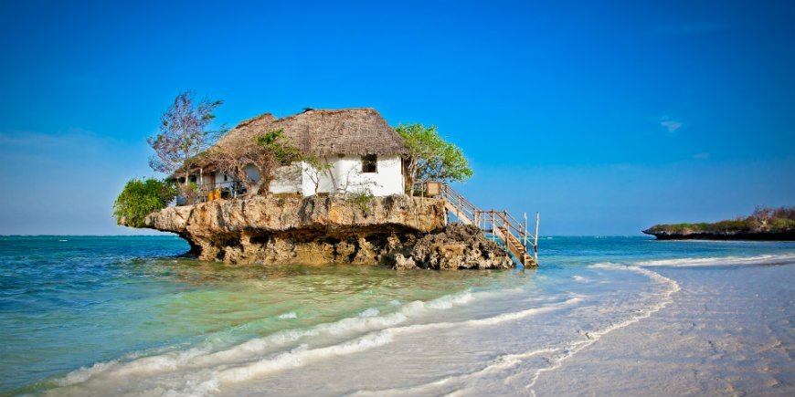 The Rock restaurang Pingwe Beach Zanzibar